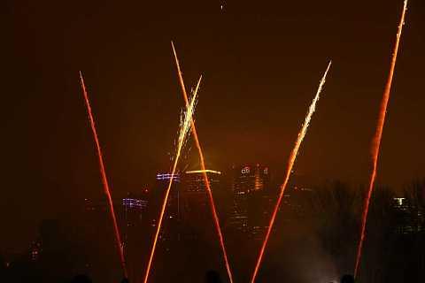Fireworks on the Island by Scott Joyce