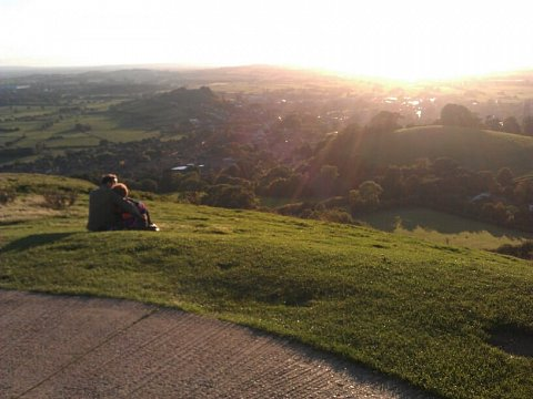 this place could not get any more beautiful at Glastonbury Tor by Scott Joyce