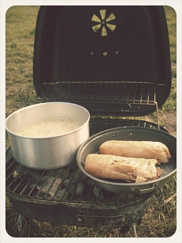 Making the last barbecue of this camping trip :( by Scott Joyce