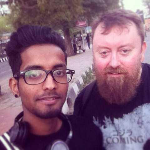 With Jerin in Delhi by Scott Joyce
