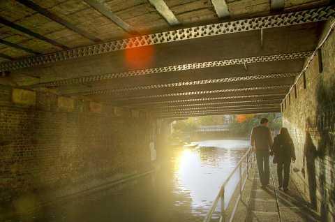 Regents Canal, Towpath, Camden. HDR. by Scott Joyce