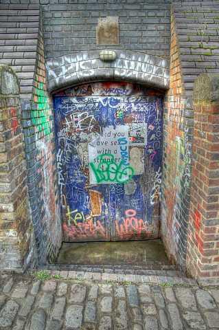 Graffiti'd Door, Camden. HDR. by Scott Joyce