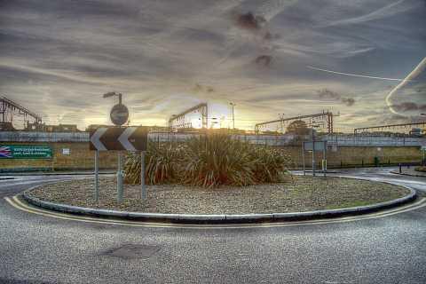 Morrisons' Roundabout, Camden. HDR. by Scott Joyce