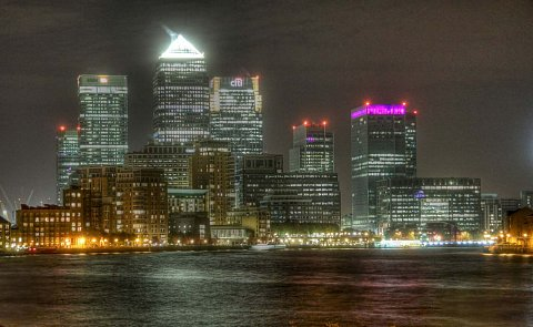 Isle of Dogs/Canary Wharf, London. HDR. by Scott Joyce