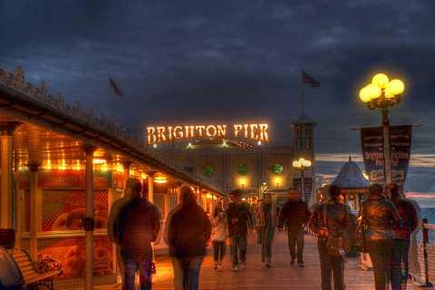 Brighton Pier, Brighton, England. HDR. by Scott Joyce