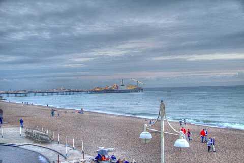 Brighton Beach, Brighton, England. HDR. by Scott Joyce