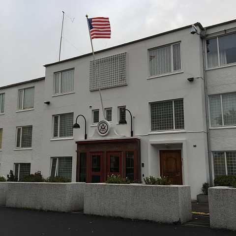 The US embassy here is SO cute by Scott Joyce