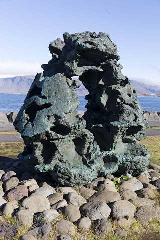 Rock sculpture by Scott Joyce