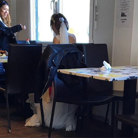 Weird place to get married... ;) by Scott Joyce