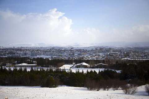 Looking out over Reykjavík by Scott Joyce