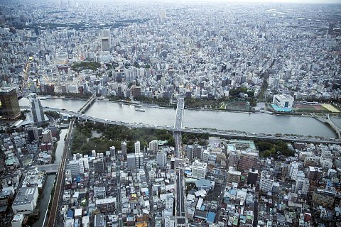 Tokyo from the air by Scott Joyce