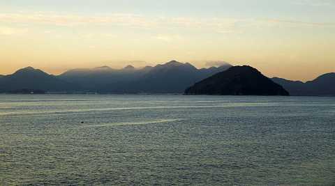 Islands off Hiroshima's coast at dawn by Scott Joyce