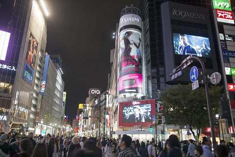 Tokyo streets by night by Scott Joyce