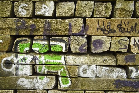 Painted bricks by Scott Joyce