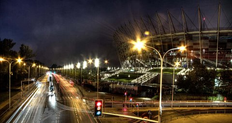 Narodowy Stadium HDR long exposure by Scott Joyce