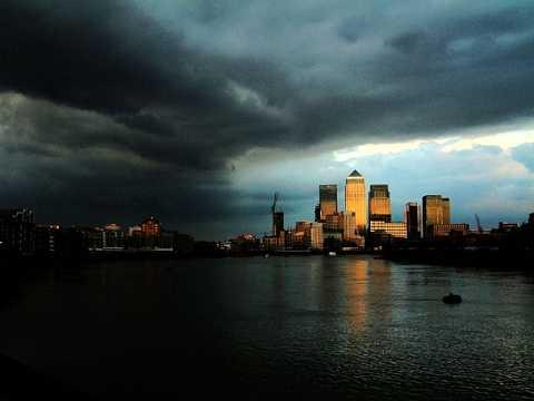 Sundown and storms roll in by Scott Joyce